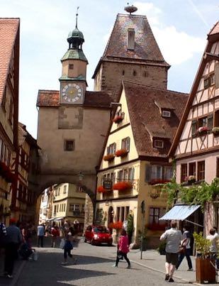 Ben Whitcombe in Rothenburg ob der Tauber